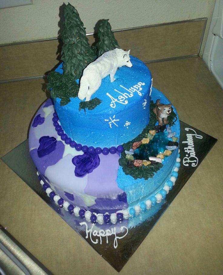 Camo Wolf Cake