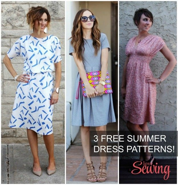 3 Gorgeous (and free) summer dress patterns and tutorials | Sewing ...
