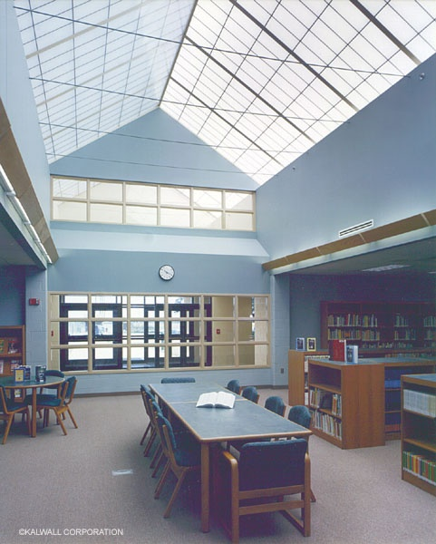 Kalwall Self Supported Ridge Roof Buckeye Valley Middle School Delaware OH Architect Buehrer