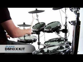 """The DM10 X Kit is a premium six-piece professional electronic drum set with 10"""" and 12"""" drum pads, 12"""", 14"""", and 16"""" cymbals, the top-of-the-line DM10 module and the best-in-class chrome-plated XRack. With an advanced sequencer and more than 1,000 sounds featuring Dynamic Articulation multi-sample technology, the DM10 X Kit will bring you professional capability in a kit that sounds as good as it looks."""