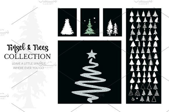 Christmas Trees Font Christmas Fonts Gift Tag Template Tag Template