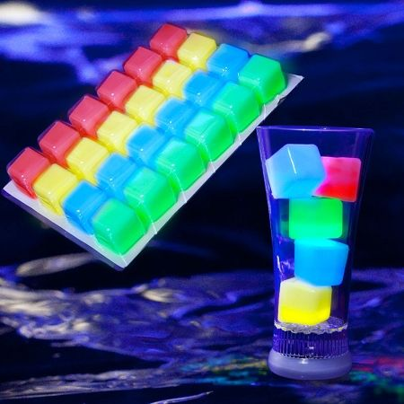 Glow Ice Cubes | Glowing Ice | Party Ice | Glowsource.com