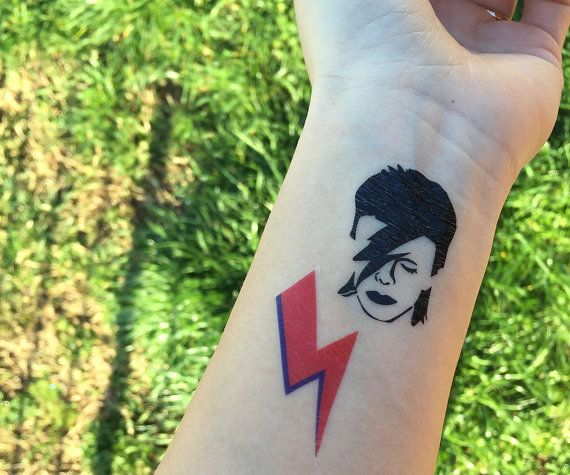 Temporary Tatoos DAVID BOWIE Tatuaggi temporanei trucco di Verifly