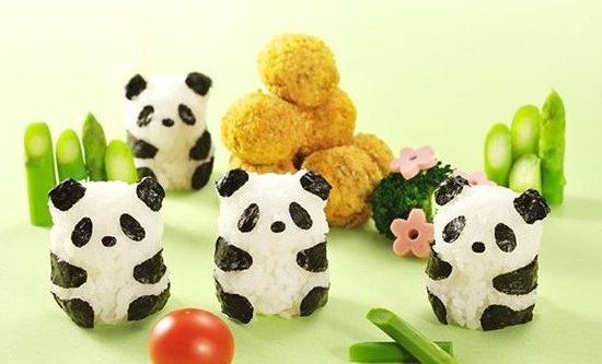 Panda Sushi Rice Ball Mold with Seaweed Cutter Set for by funzHome
