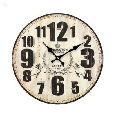 Buy Wall Clock Vintage Bold Numbers Online India   Zansaar Décor Store #decor #3otherthings