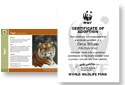 I plan to adopt a tiger thru WWF (no a live tiger won't actually be roaming around my place) Proceeds go to keeping these endangered animals from becoming extinct