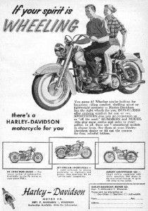 1959 Harley-Davidson Duo-Glide advert