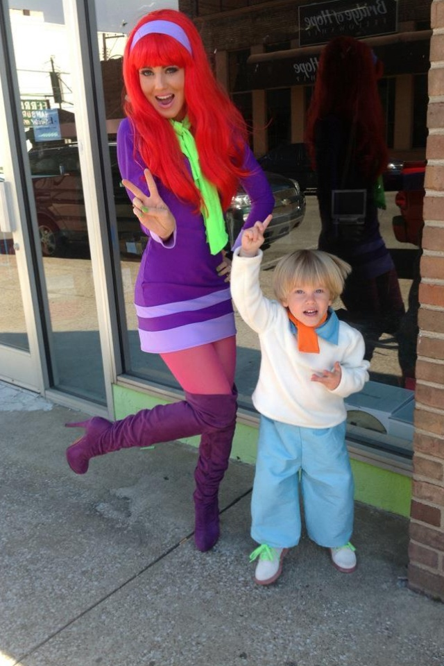 Mystery Gang Halloween... Mommy & Son Costume (Fred & Daphne) <3 <3