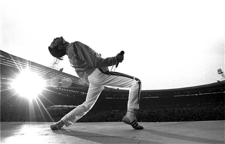This Freddie Mercury image by Neal Preston embodies a lot about what's great about music. From one of the greatest rock performances on record.