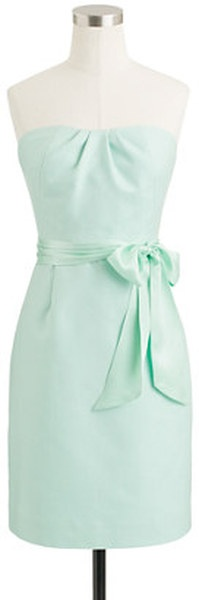 J.crew Lacey Dress in Cotton Cady in Blue (sunwashed aqua) - Lyst