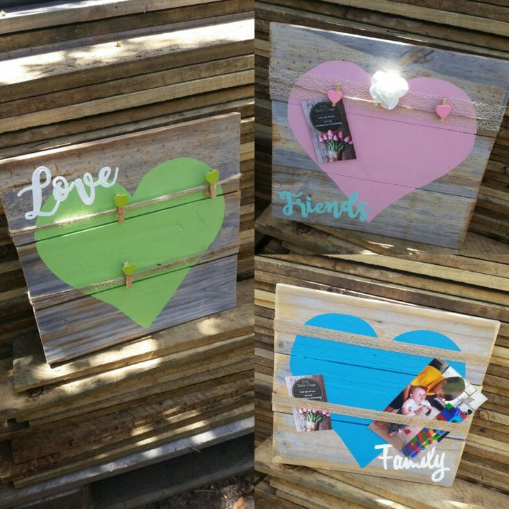 Rustic timber photo boards. Using old recycled wood. Just $23 each