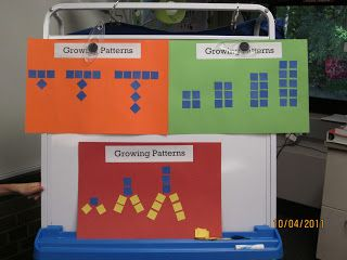 New Adventures in First Grade: Math--growing patterns