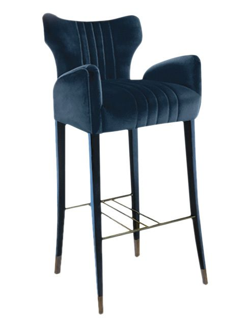 DAVIS | BAR CHAIR - Contemporary Mid-Century / Modern Transitional Dining Room