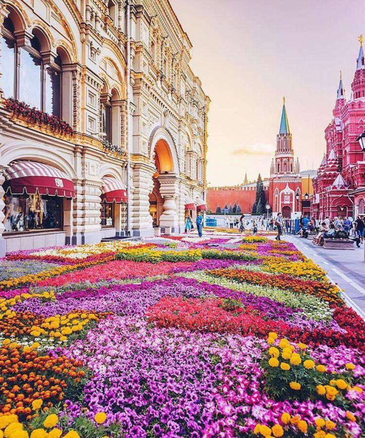 москва улицы в цветах картинки большой