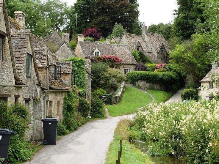 Charming 600 year old stone village in the English countryside