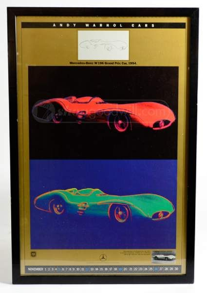 Andy warhol cars framed car poster for Mercedes benz wall posters