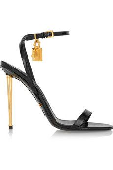 Tom Ford Patent-leather sandals | NET-A-PORTER $1145 | See more about Tom Ford, Ford and Toms.