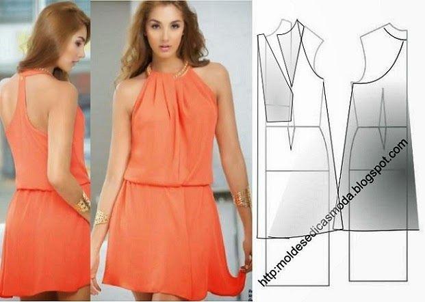 Para fazer o molde do vestido curto laranja siga o passo a passo da transformação do molde base. Este passo a passo tem como objectivo ajudar quem tem...