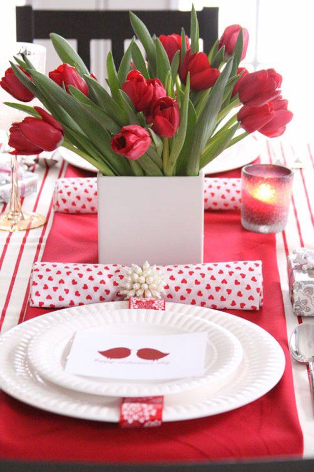 valentine place setting ideas - Google Search
