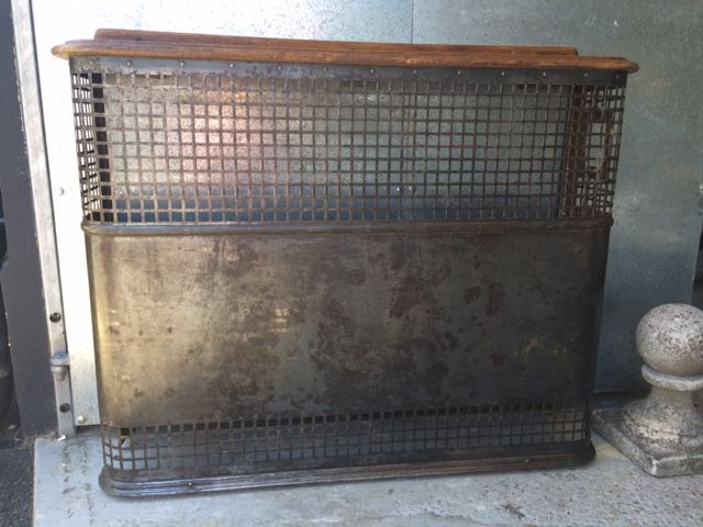 Antique 1950s metal radiator cover