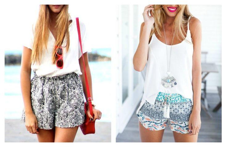 10 ιδέες για να φορέσετε τα εμπριμέ shorts Αγαπημένο καλοκαιρινό κομμάτι που δεν φοριέται μόνο στα φεστιβάλ!