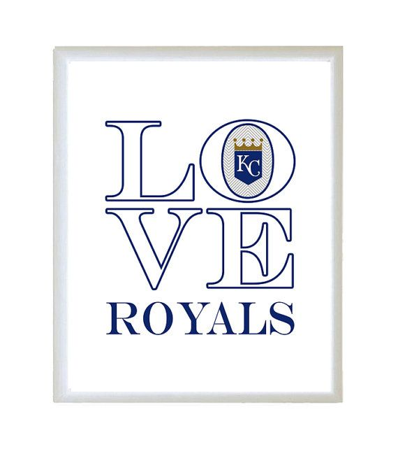 Love kansas city royals baseball word quote by for Home decor kansas city