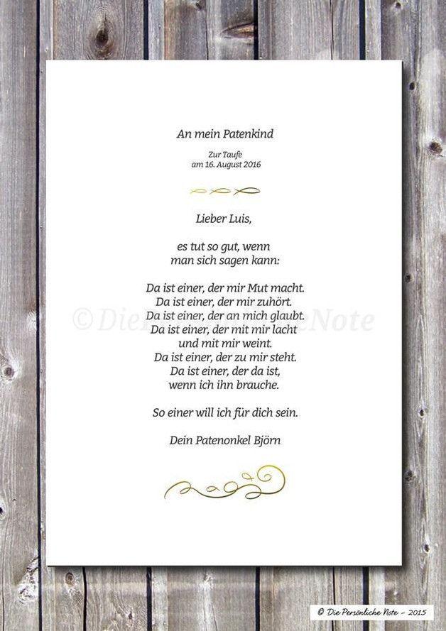 Patenkind Sprche Jancukjati Design Karte Taufe Text