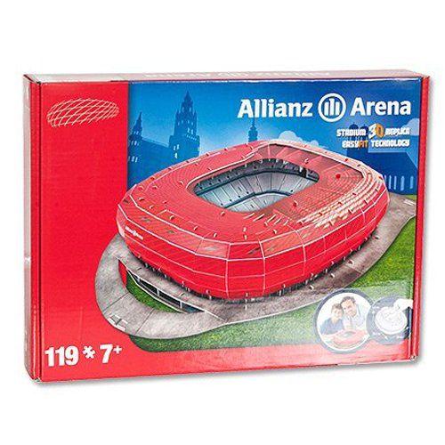 Giochi Preziosi – 70012121 – 3D Puzzle – Stade Allianz Arena München – Rouge: Ramène chez toi le stade de ton équpe en 3D 117 pièces du…