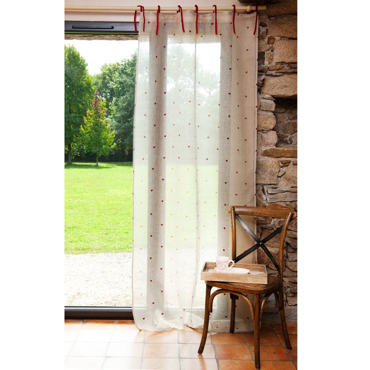 tenda lino cuori stampata maisons du monde curtains pinterest. Black Bedroom Furniture Sets. Home Design Ideas