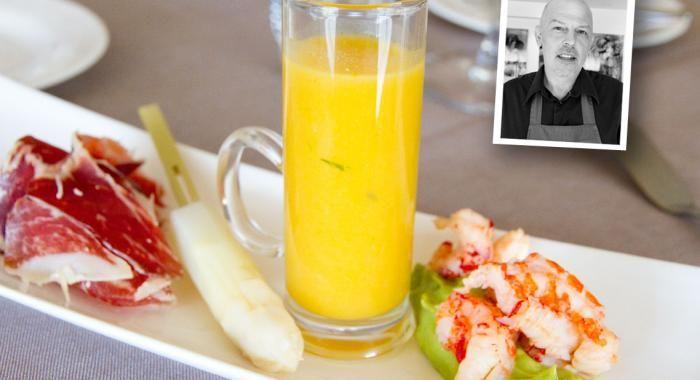 Asperges met Pata Negra ham, pompoensoep en avocadozalf met kreeftgarnalen | Navenant Kookt!