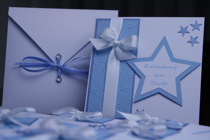 Einladungskarten - Einladungskarte Junge Stern - ein Designerstück von EvasCardArt bei DaWanda