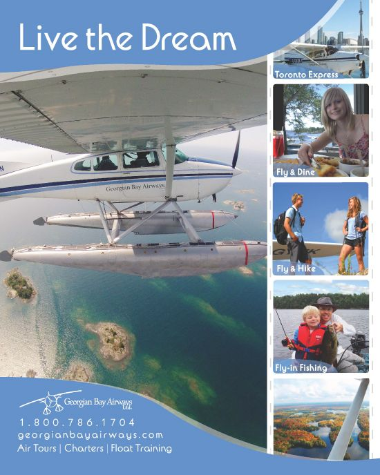Georgian Bay Airways Seaplane Tours and Adventures (also our business)!