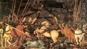 Bernardino della Ciarda Thrown Off His Horse  by Paolo Uccello