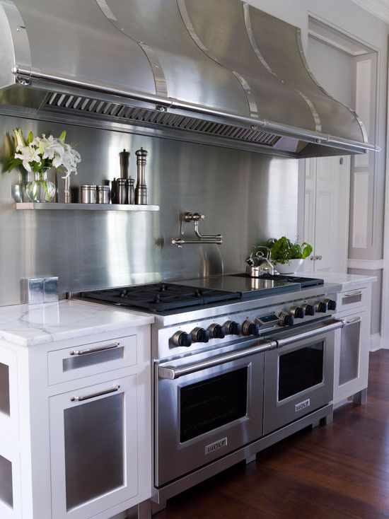 kitchen hood stainless custom | , viking oven, custom hood, stainless steel hood, brushed stainless ...