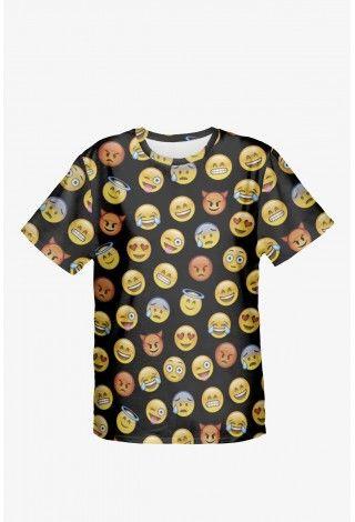 Tričko emoji black