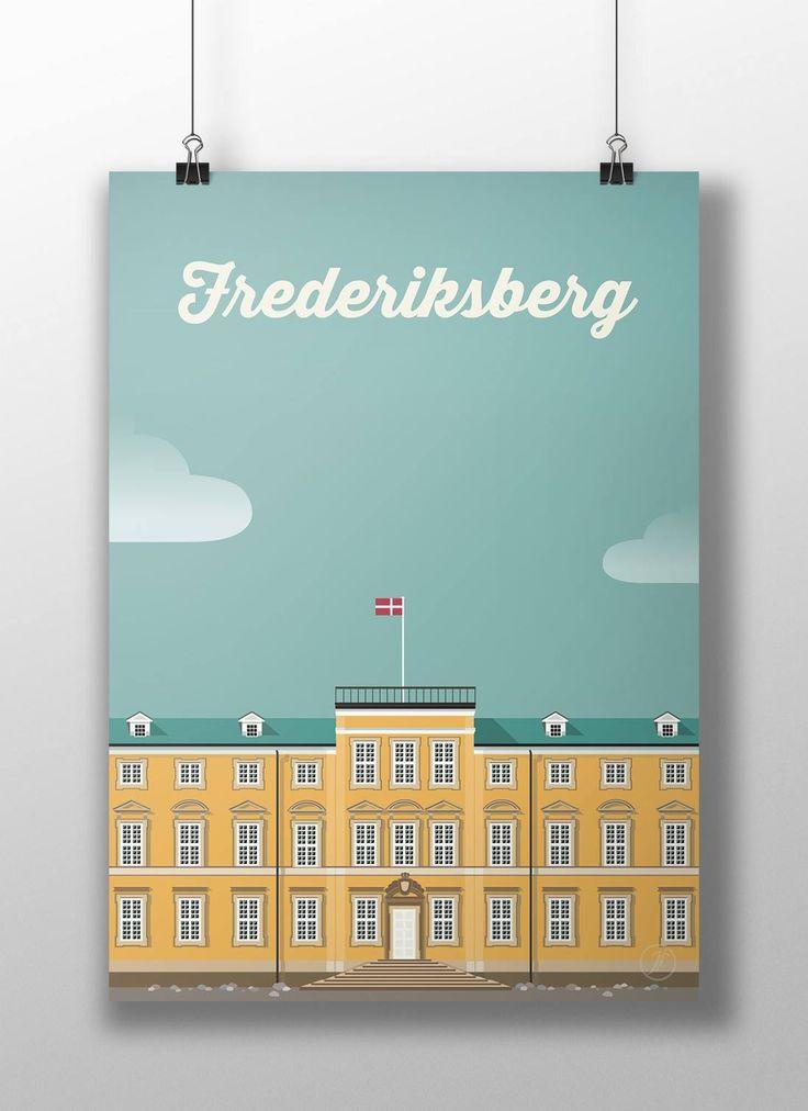 Frederiksberg. poster, design, art, illustration, adobe, artwork, Denmark