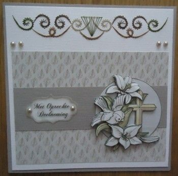 Voorbeeldkaart - Condoleancekaart - Categorie: Borduren - Hobbyjournaal uw hobby website