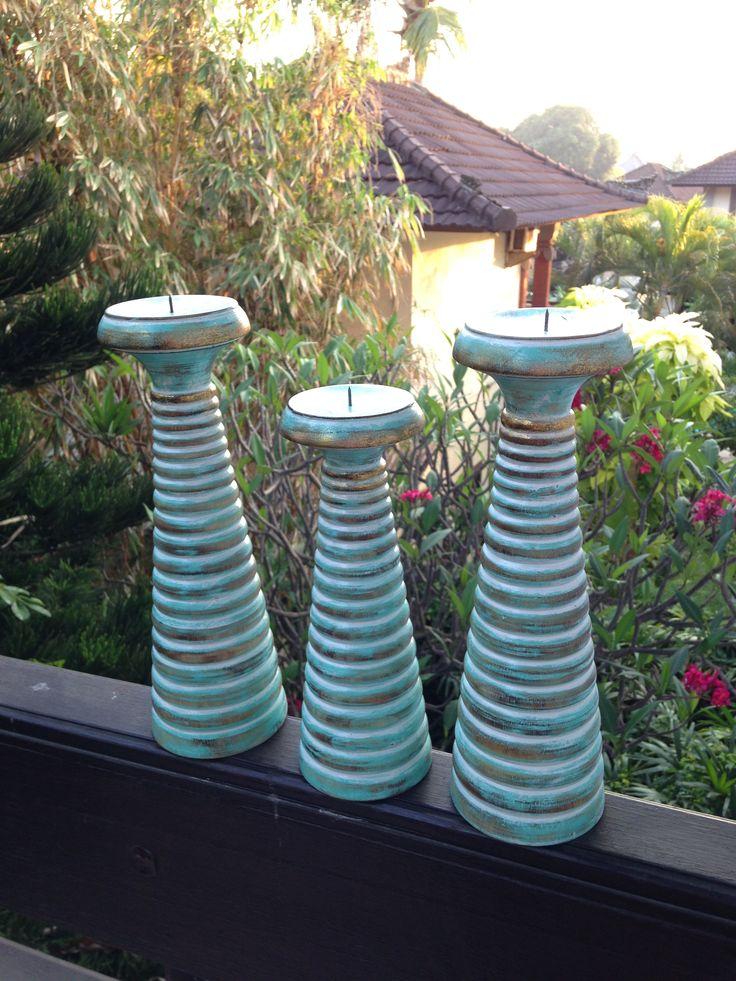 Aqua Candle holders - Bali Buddha