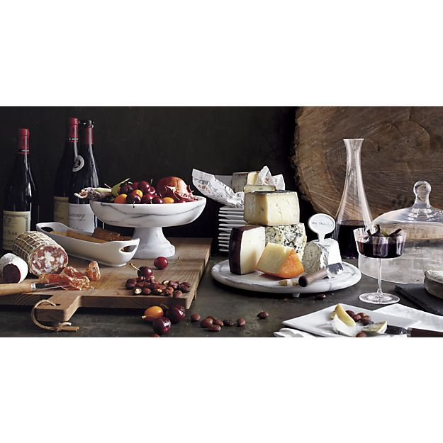 French Kitchen Marble Fruit Bowl in Serving Bowls | Crate and Barrel