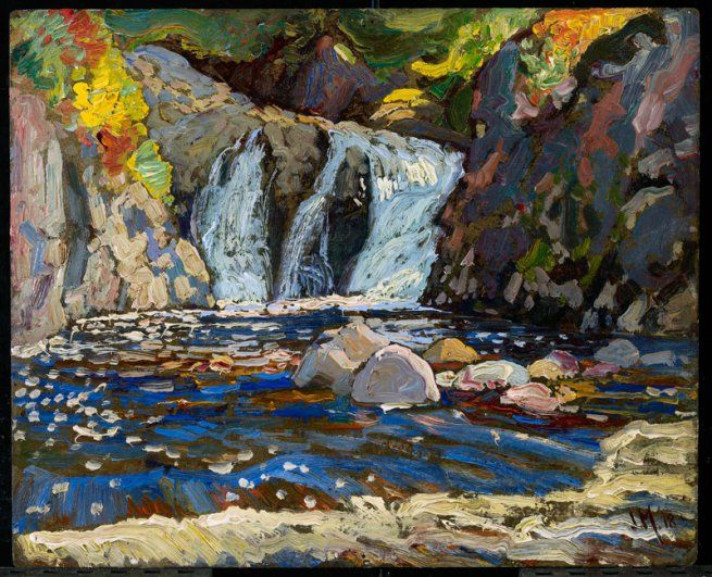 J. E. H. MacDonald | The Little Falls (1918) | Oil on composite woodboard, 21.6 x 26.7 cm | © Art Gallery of Ontario
