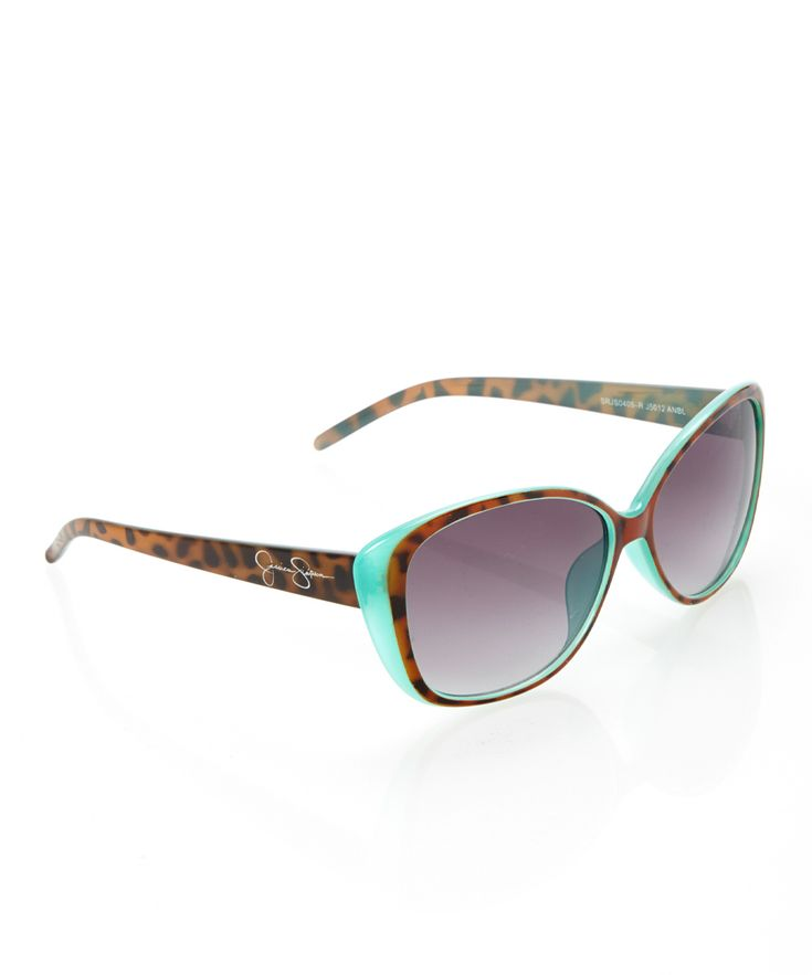 Teal Tortoise Butterfly Sunglasses