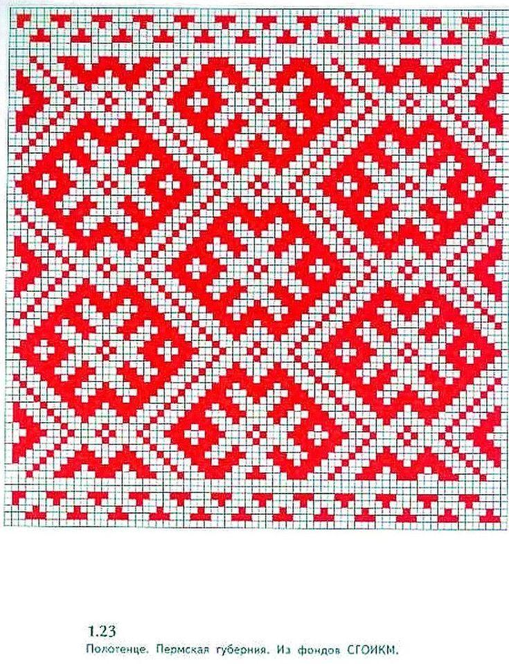 узор для вышивки ткачества