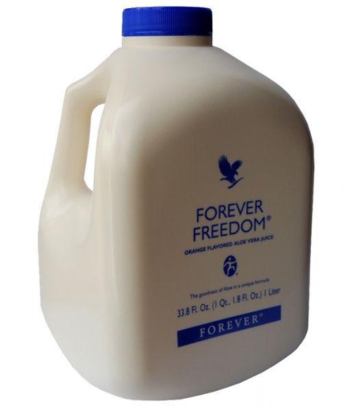 Délicieusement aromatisé à l'orange, Forever Freedom est une formule unique et originale qui, grâce à la vitamine C, contribue à la formation normale du collagène ainsi qu'à la fonction normale des os et des cartilages. Composants principaux : 88,86% de pulpe d'Aloe Vera stabilisée ; 1,25% de sulfate de glucosamine ; 1,17% de sulfate de chondroïtine ; 0,6% de Méthyl Sulfonyl Méthane. Contient des traces de crustacés.  Conseils d'utilisation : 40 ml, 2 fois par jour, soit 80 ml.