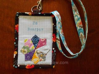 Quilted name tag for Jo of Bearpaw