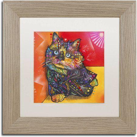 Trademark Fine Art 'Baby Albert' Canvas Art by Dean Russo, White Matte, Birch Frame, Assorted