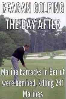 I don't care about how often or when any president of any party golfs. It's stupid and irrelevant to bring up how much vacation time a president takes also. As presidents are never really on vacation and can be reached at a moment's notice. My problem is the Republigoons keep on dissing MY PRESIDENT for golfing and taking vacations. The first president they ever treated this way.