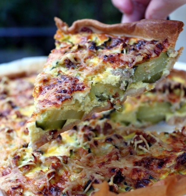 tarte courgettes thon.. encore meilleure avec les courgettes du jardin
