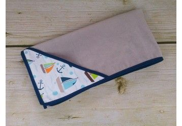 ALGAE & ORGANIC COTTON Forestry Foxes Baby blanket with smart pocket