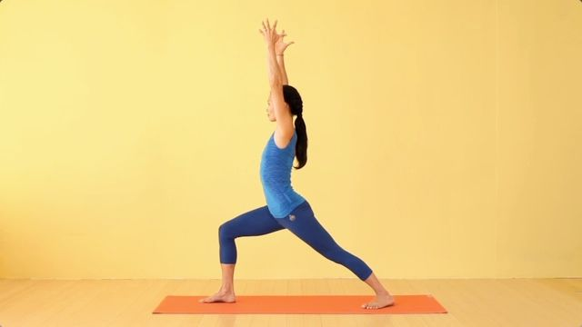 Warrior 1 pose from yogajournal