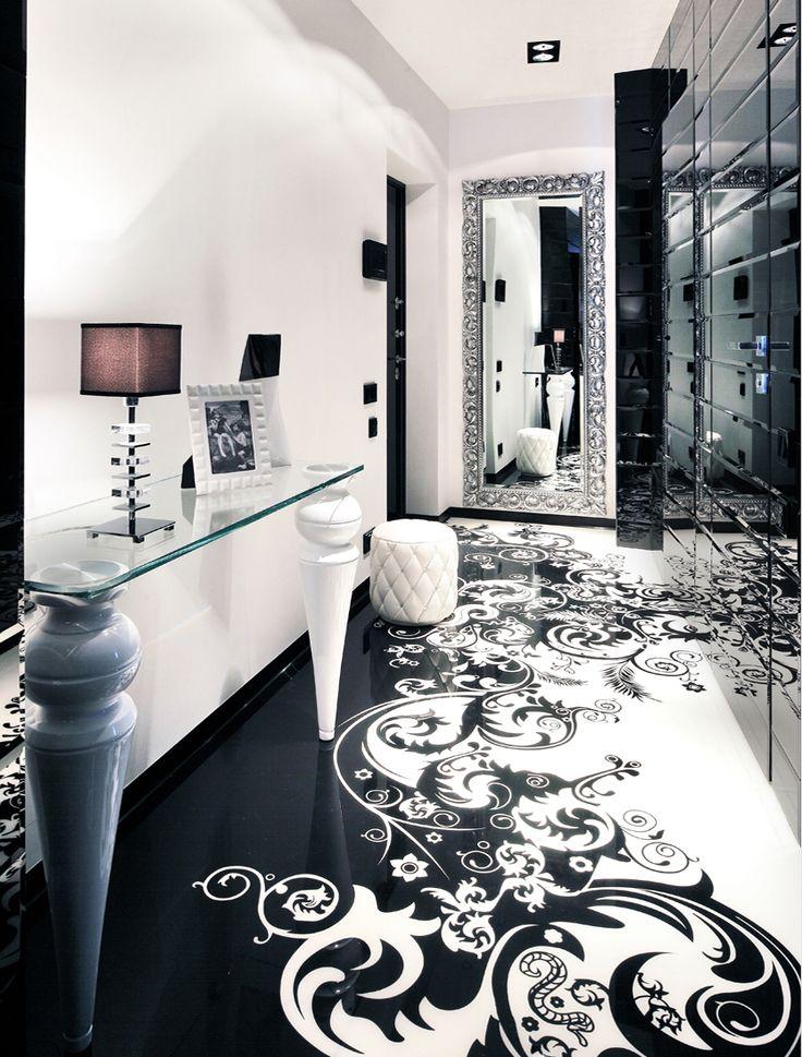 Begovaya Residence By Geometrix Design Black And White Floor